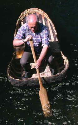 John in a coracle